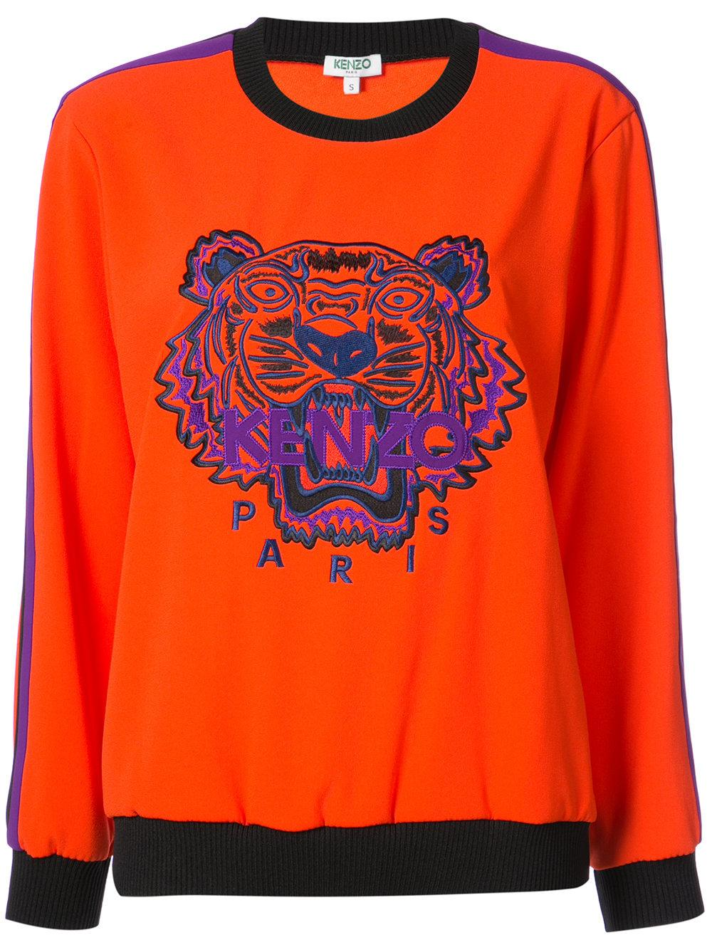 c695e7b7c This stunning casual piece features long sleeves, a ribbed round neck,  ribbed cuffs, a ribbed hem and a central embroidered Tiger logo motif.