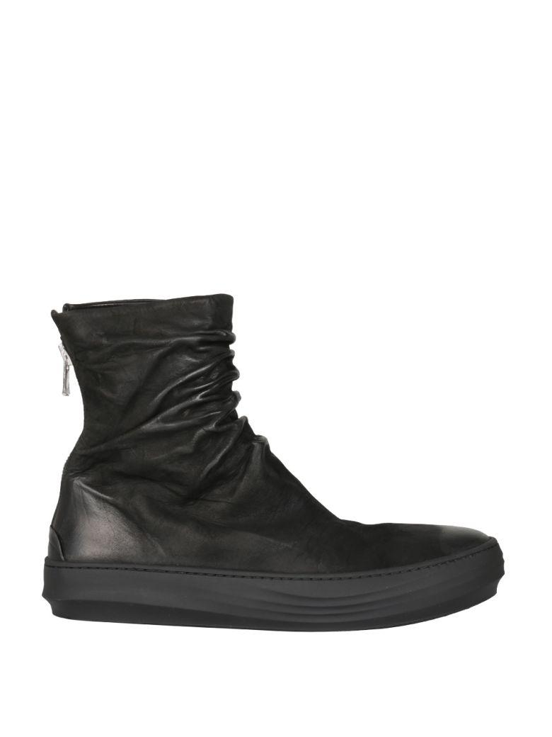 Finn Mat Leather High-Top Sneakers in Nero