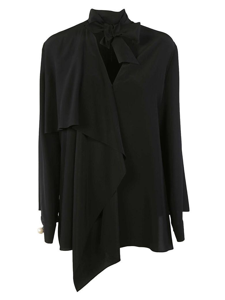 Fendi Tie Neck Blouse In Black