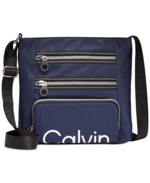 Calvin Klein Athleisure Medium Crossbody In Navy