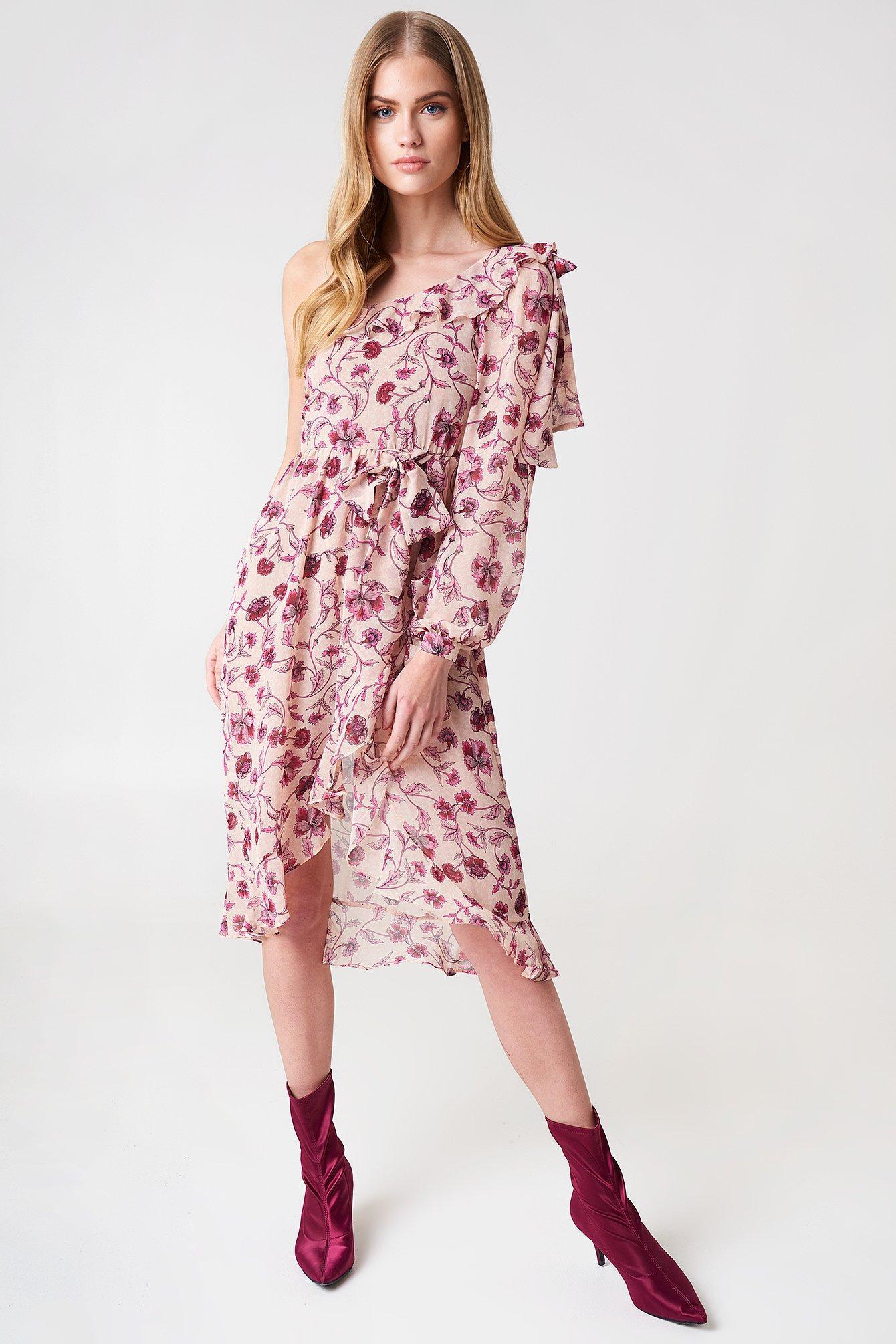 07d0ebd737415 For Love   Lemons Agnes One Shoulder Dress - Pink