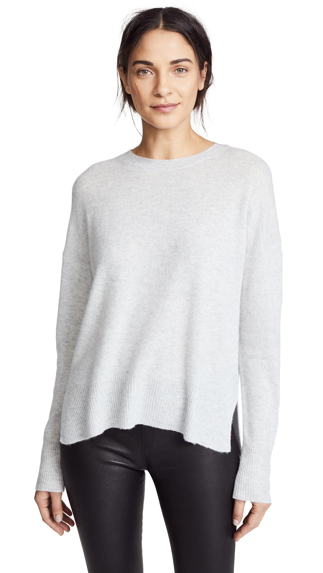b5fad2311c Theory Karenia Cashmere Sweater In Whale Grey. SIZE & FIT INFORMATION