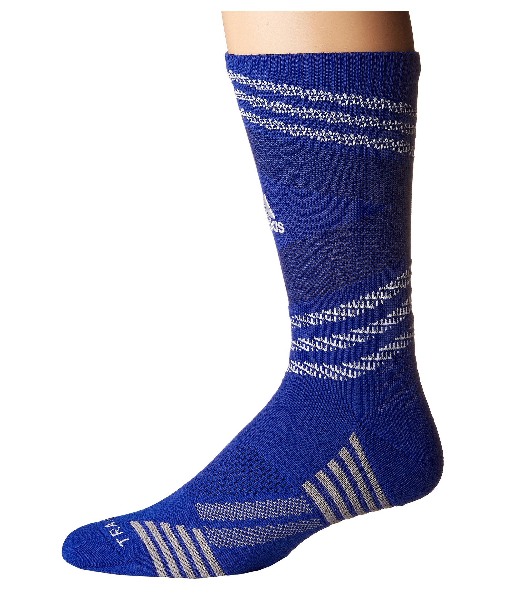 Speed Mesh Team Crew Socks in Bold BlueWhiteUnity Ink PurpleLight Onix
