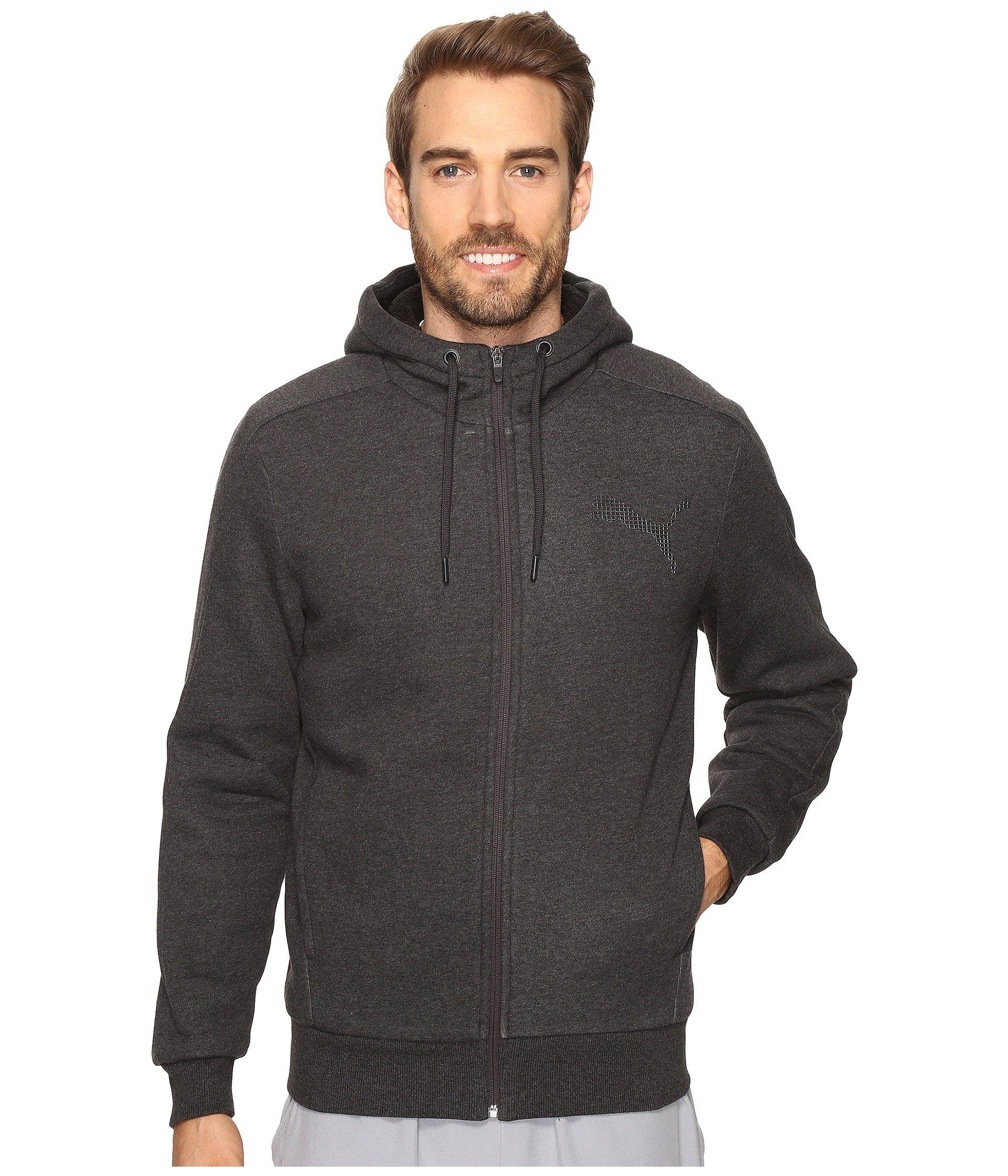 a3115055b6 P48 Core Sherpa Full Zip Hoodie, Dark Gray Heather