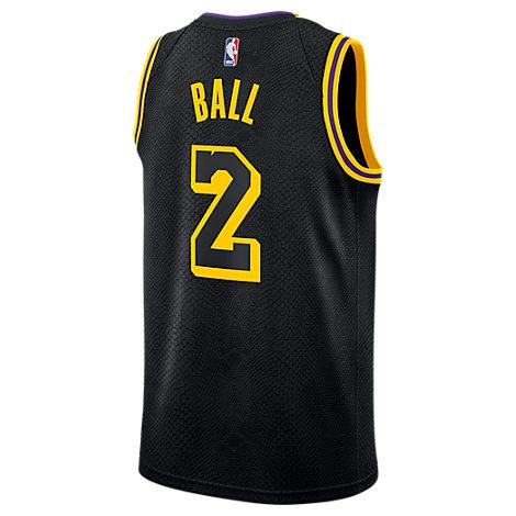 official photos d10fb 2bb1f Men's Los Angeles Nba Lonzo Ball City Edition Connected Jersey, Black