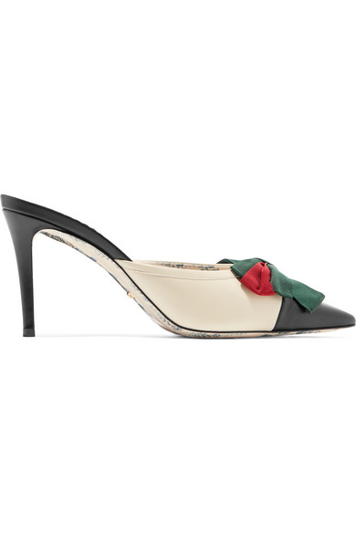 ece59a0422f Gucci Women. GUCCI. Women s Sackville Leather Bow Mid-Heel ...