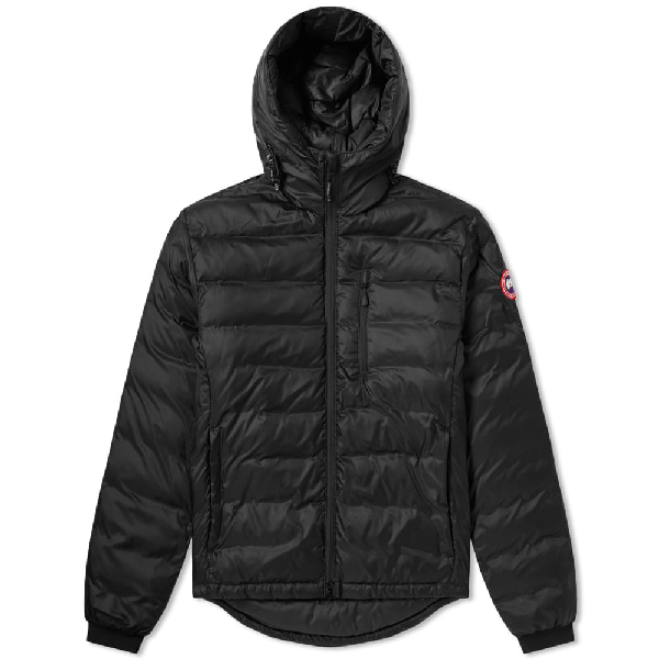Canada Goose Lodge Hooded Jacket In Black