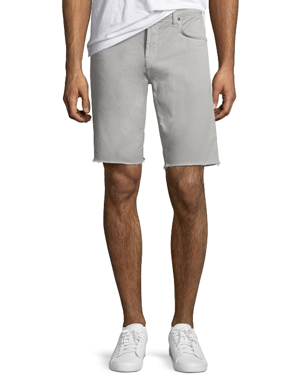 J Brand Men's Eli Over-Dyed Cutoff Jean Shorts In Reflect