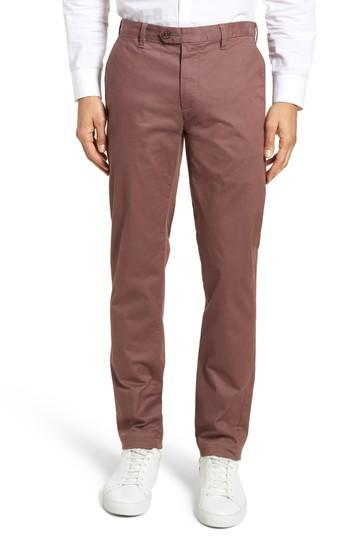 69a7e67c6 Ted Baker Procor Slim Fit Chino Pants In Dusty Pink