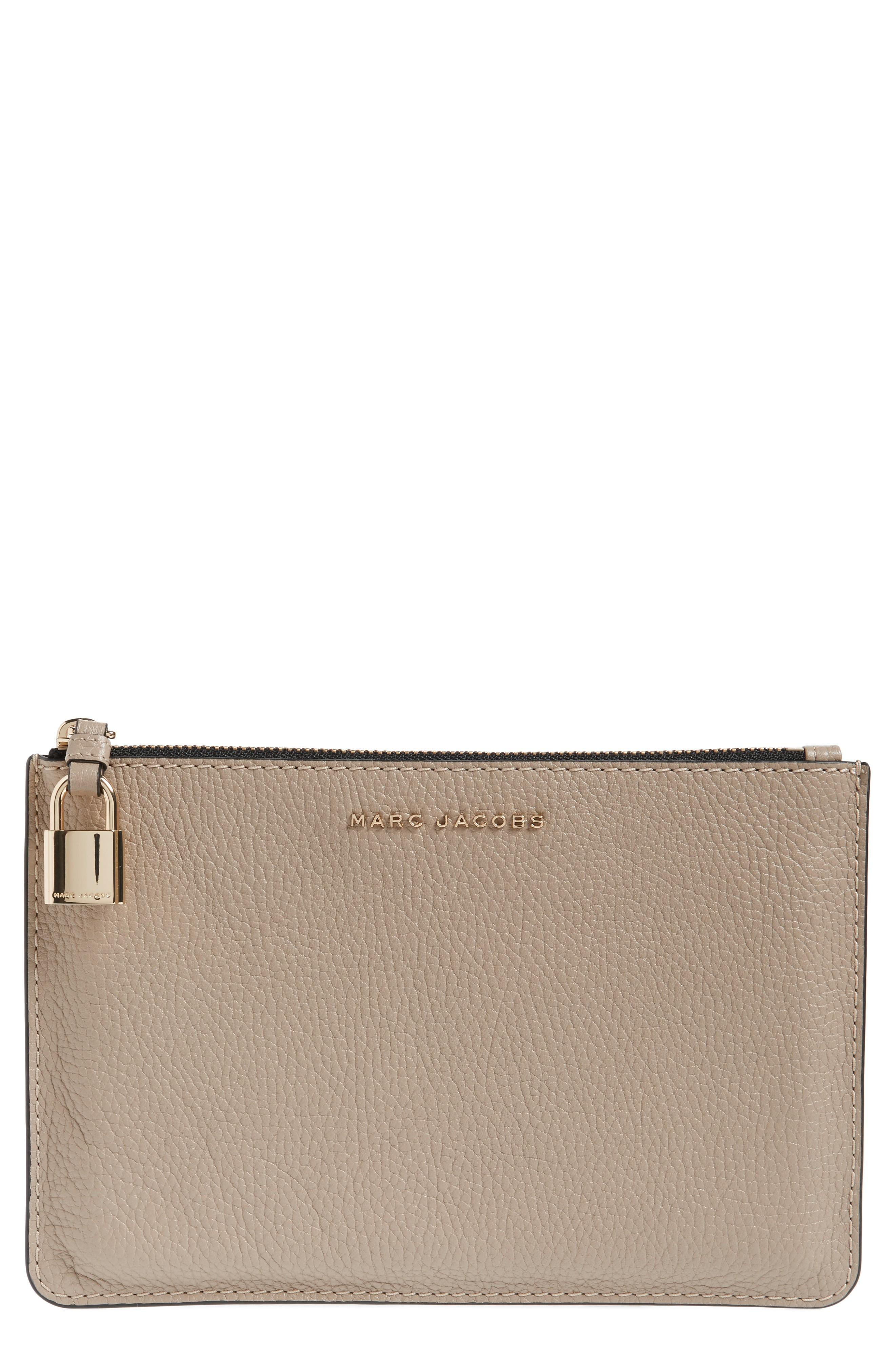 1caf1c0dc55e MARC JACOBS MEDIUM LEATHER POUCH - GREY