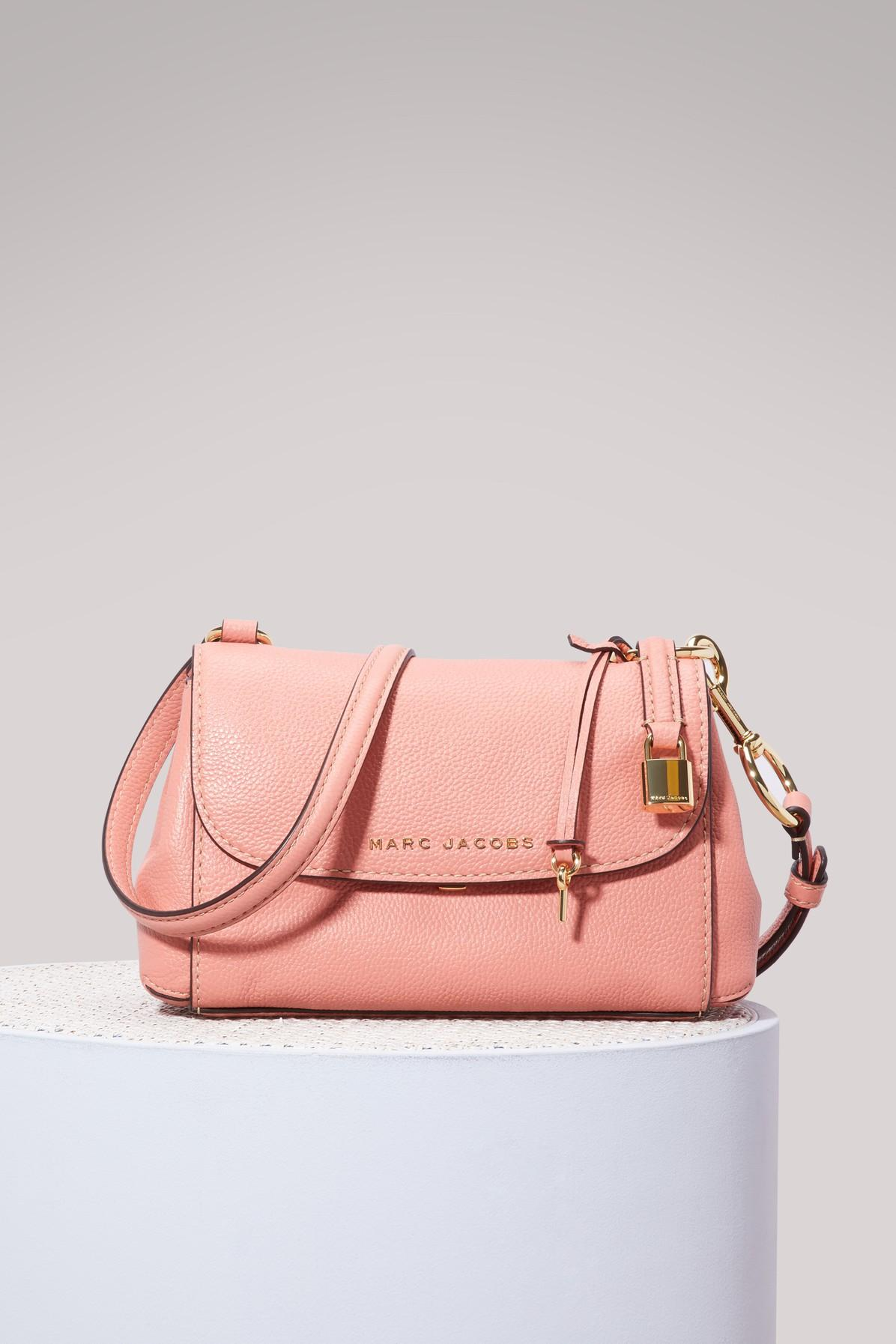 9226a6f83b7eb Marc Jacobs Mini The Boho Grind Leather Shoulder Bag - Coral
