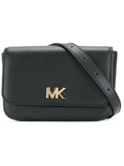 Michael Kors Leather Belt Bag - Black In 001 Black