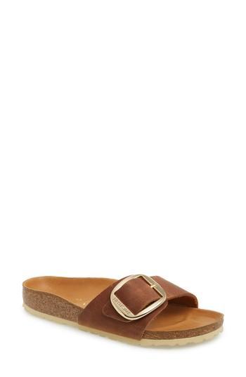 89c17ed2136 Birkenstock Madrid Big Buckle Slide Sandal In Cognac Leather | ModeSens