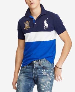 Polo Ralph Lauren Big /& Tall Men/'s Blue Ombre Mesh Classic Fit Polo Shirt