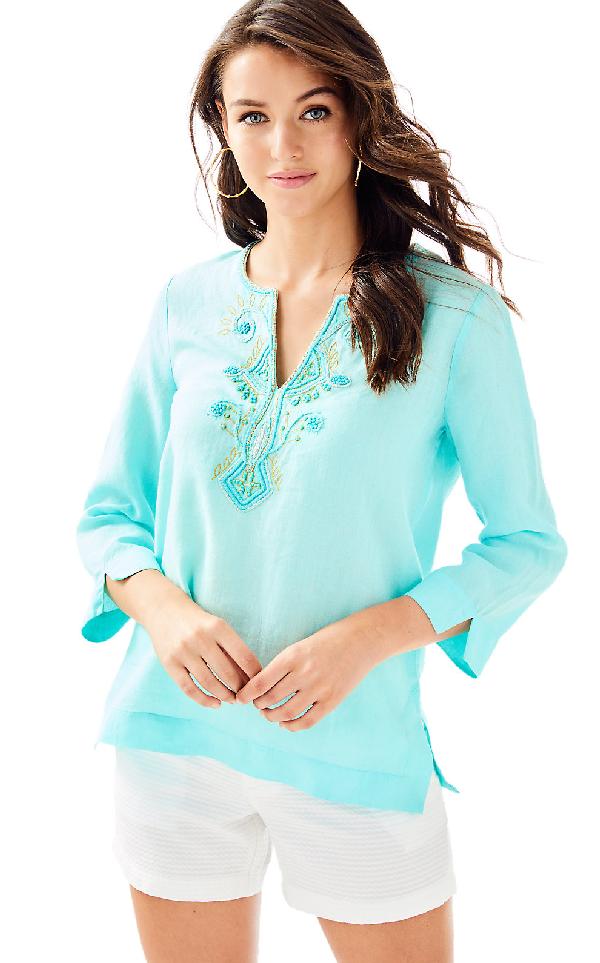 57013ae79ef940 Lilly Pulitzer Womens Amelia Island Tunic In Seasalt Blue | ModeSens