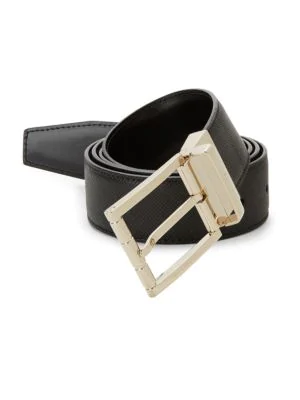 Bally Astor Adjustable Reversible Belt In Black/black