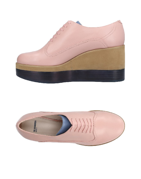 Jil Sander Laced Shoes In Pink