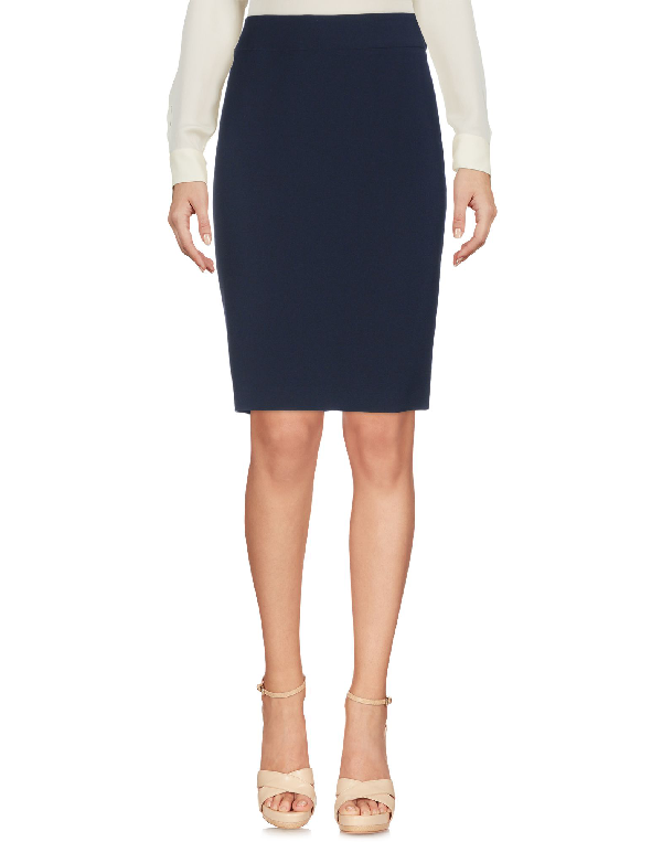 Armani Collezioni Knee Length Skirt In Dark Blue