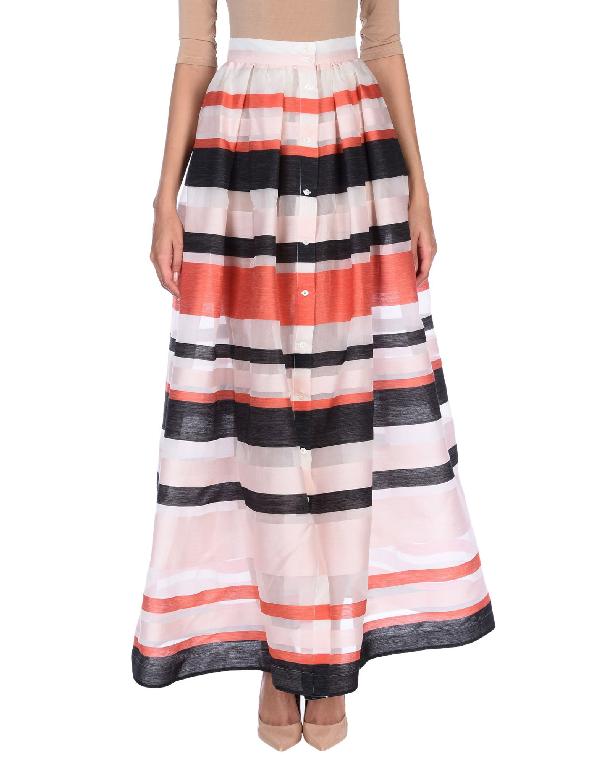 Sara Roka Maxi Skirts In Light Pink
