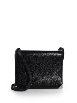 Alexander Wang Prisma Double Envelope Leather Shoulder Bag In Black