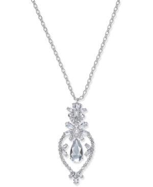 Kate Spade Flora PavÉ Small Pendant Necklace In Silver