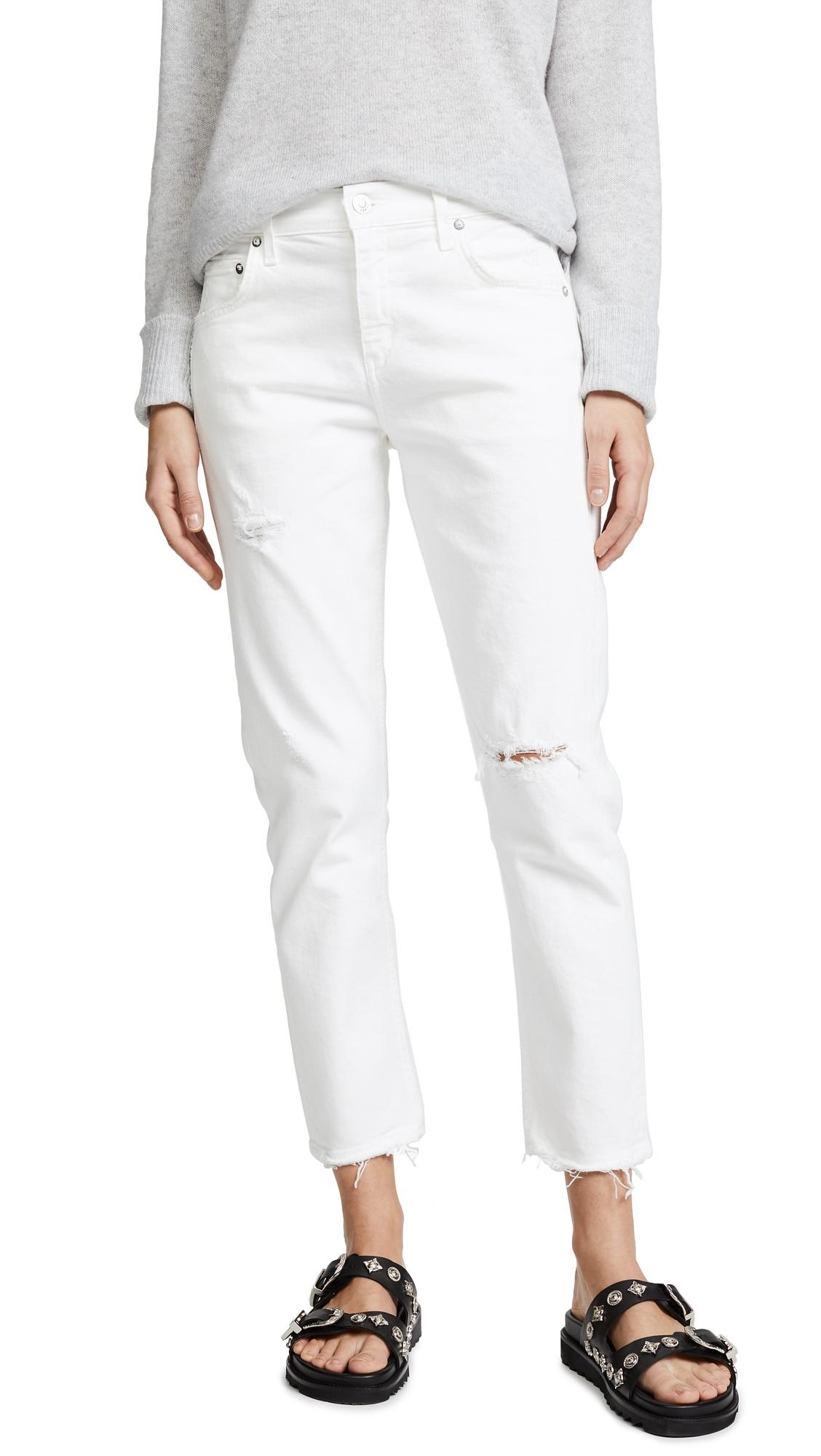f0614bac8b2 Agolde The Isabel Mid-Rise Slim Straight Jeans In Prism