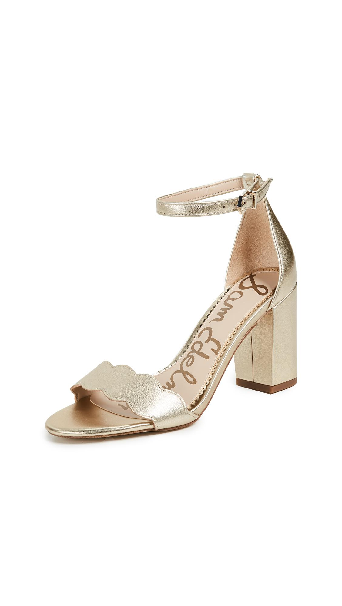 efb65b49186 Sam Edelman Odila Sandals In Molten Gold
