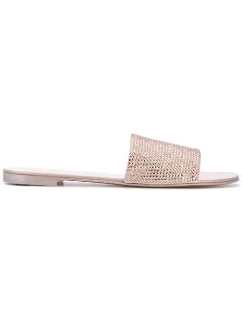 e75e4bf705ada Giuseppe Zanotti Women's Swarovski Crystal Embellished Slide Sandals In  Metallic
