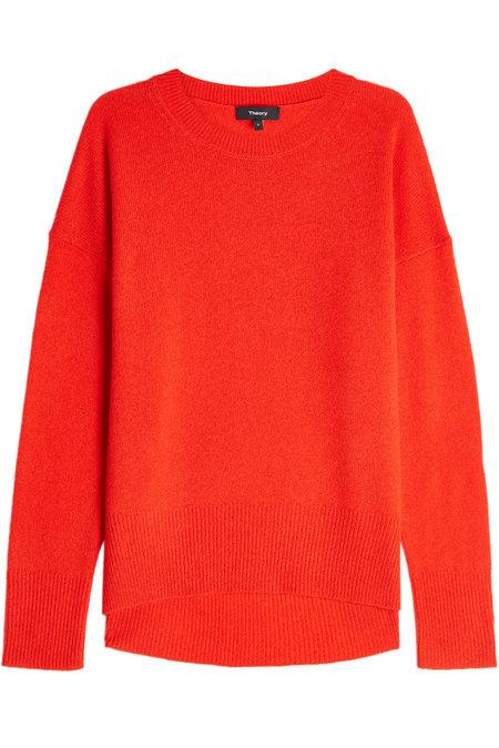 Theory Cashmere Pullover In Red