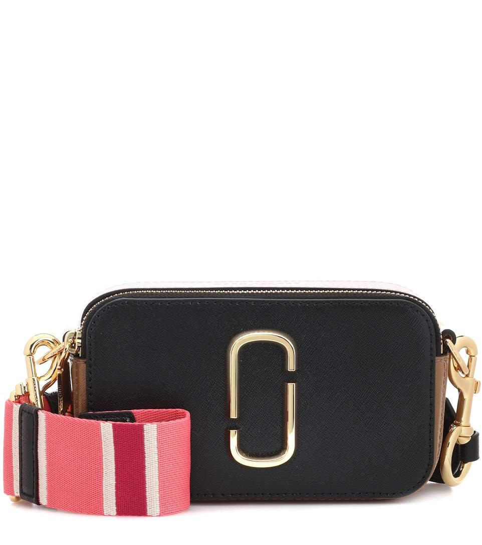 faca9b3be9223 Marc Jacobs Snapshot Small Leather Camera Bag In Black