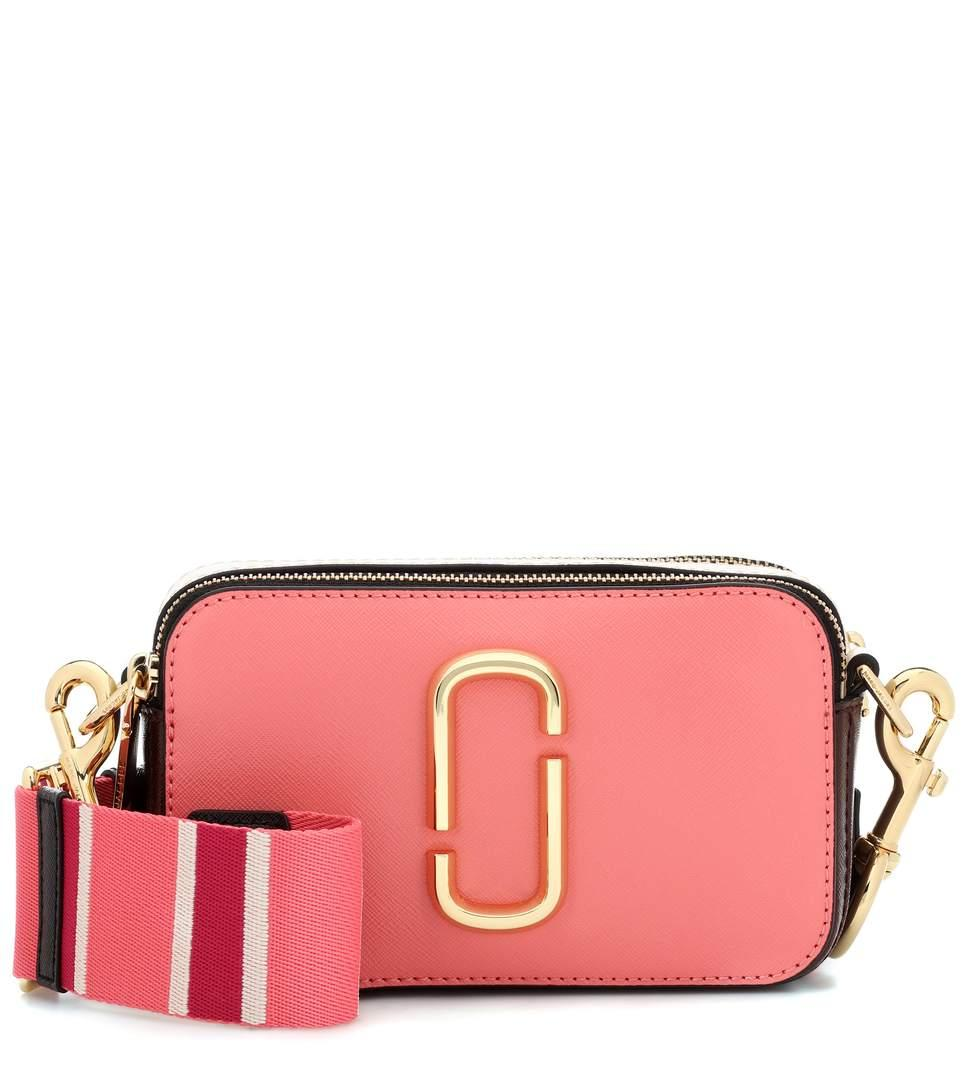 02038cb112a9 Marc Jacobs Snapshot Small Leather Camera Bag In Pink