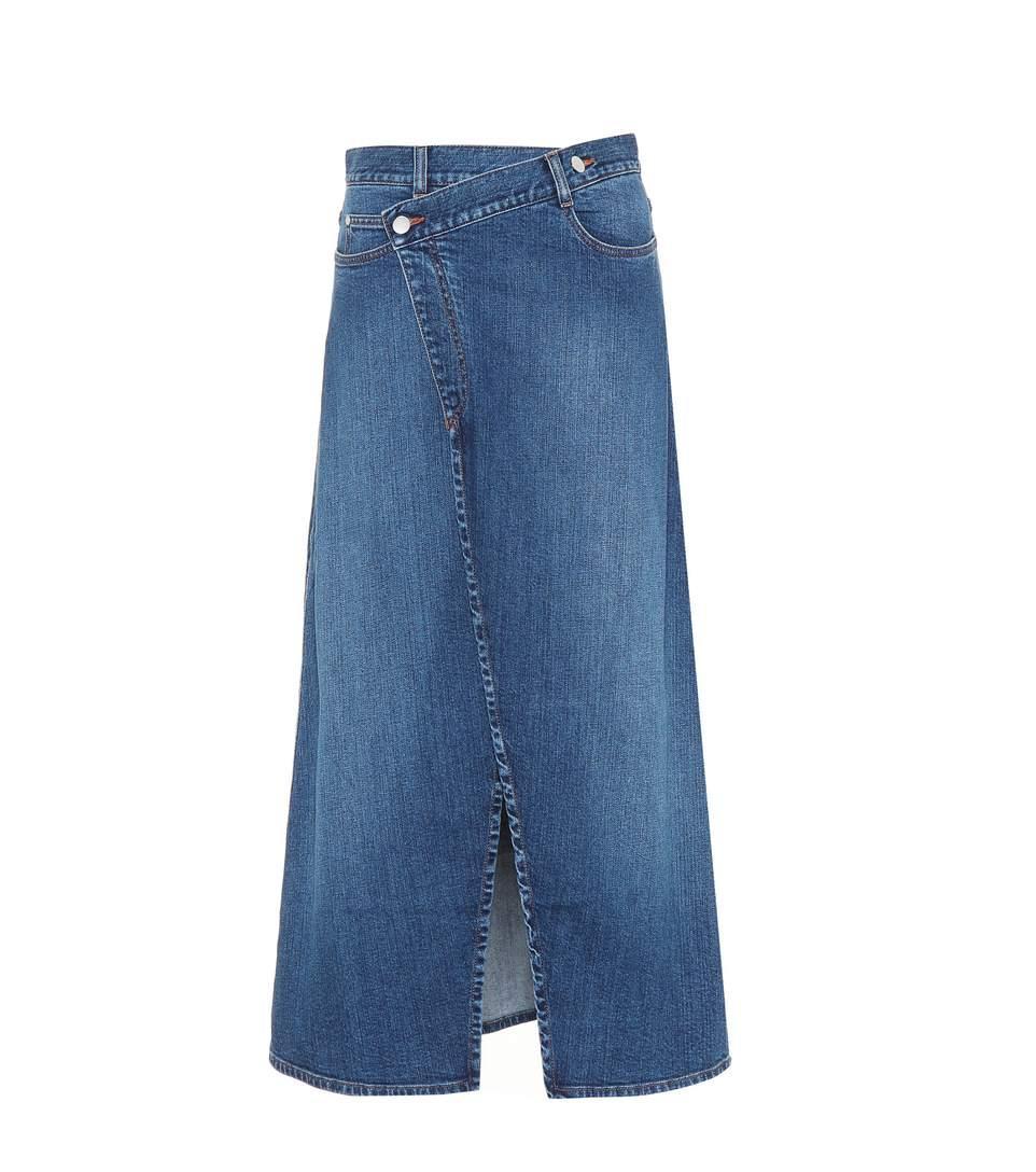 3be232dd0d Stella Mccartney Foldover Denim Skirt In Dark Blue | ModeSens