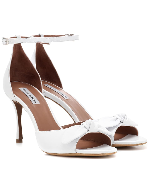 Tabitha Simmons Women's Mimmi Leather High-Heel Sandals In White