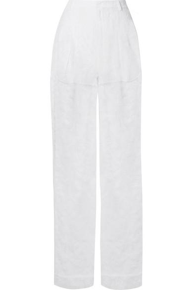 Givenchy Lace Wide-Leg Pants In White