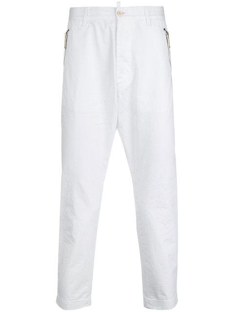 Dsquared2 Cropped Trousers In 100