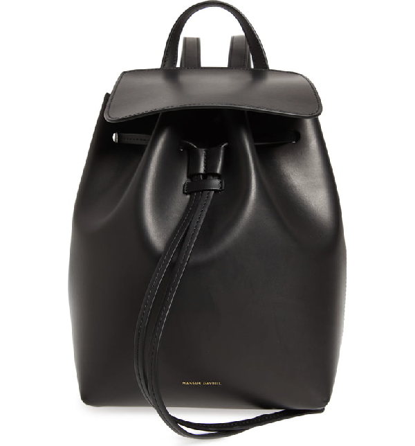 45bc8e47c65 Mansur Gavriel Mini Leather Backpack - Black | ModeSens