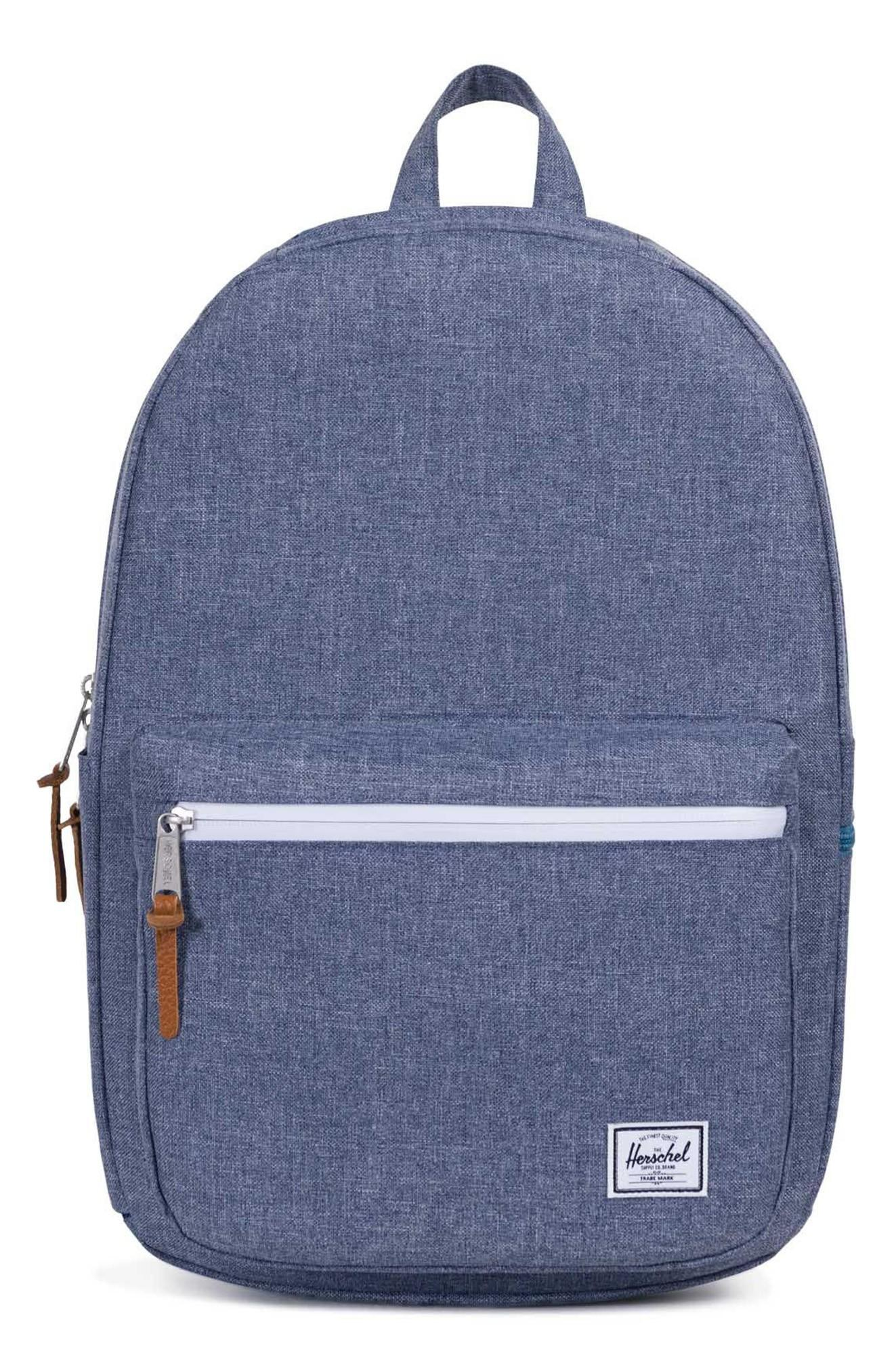 f6b0a0833e Herschel Supply Co. Harrison Backpack - Blue In Dark Chambray Crosshatch