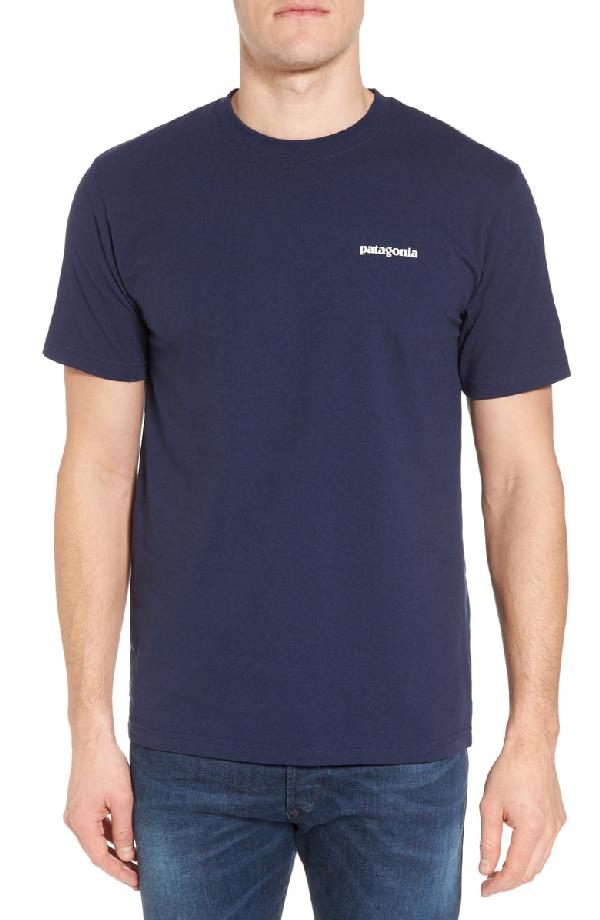 Patagonia Glacier View Rising Responsibili-Tee T-Shirt In Classic Navy