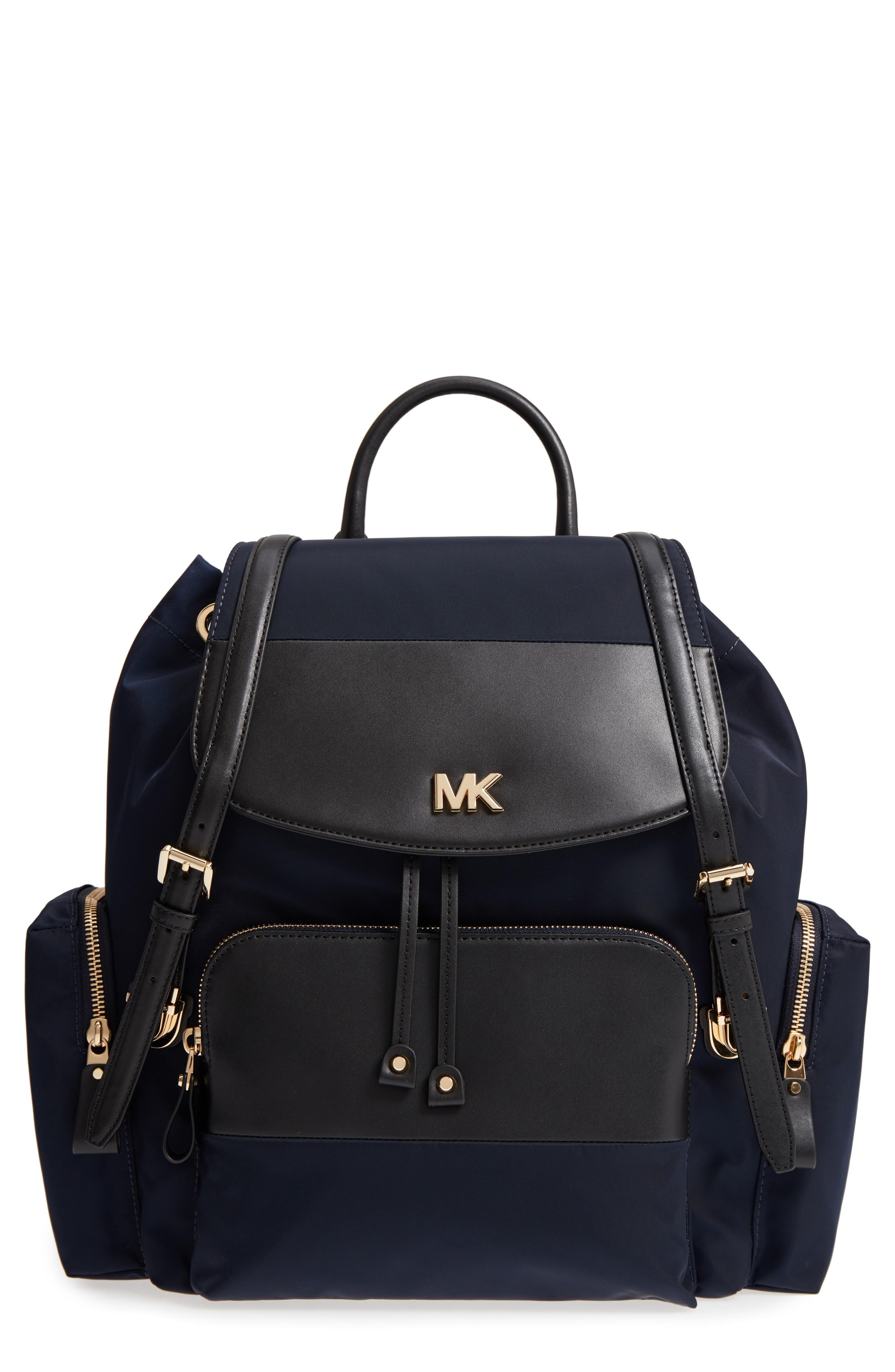640385a18045 Michael Kors Large Nylon Diaper Backpack - Blue In Admiral/ Black ...