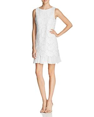 1b9c6b63 Eliza J Lace Ruffle Hem Sheath Dress In Ivory | ModeSens