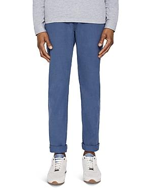 Ted Baker Sheppy Slim Fit Textured Trousers In Navy