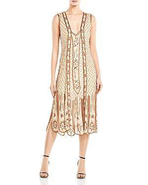 Haute Hippie Love And Other Disasters Beaded Silk Car-wash Vest In Buff