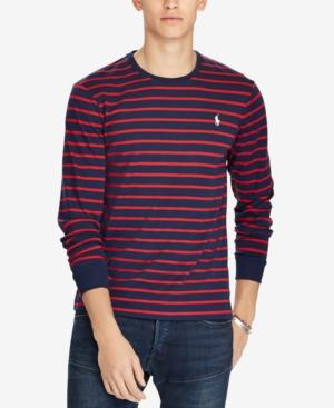 048f42d782c Polo Ralph Lauren Men s Custom Slim Fit Striped Long-Sleeve T-Shirt In  French