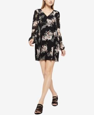Bcbgeneration Floral-Print Bow-Back Shift Dress In Black Multi