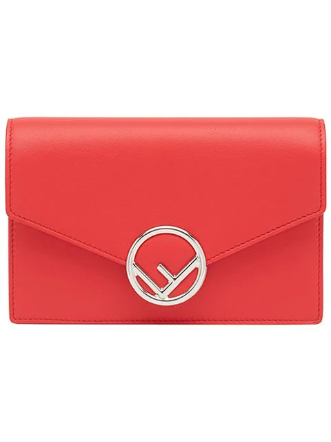Fendi F Is  Wallet On Chain Bag In Red