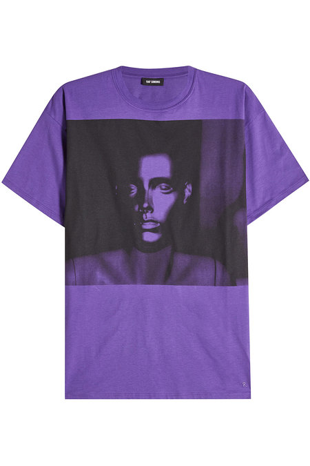 Raf Simons Printed Cotton T-Shirt In Purple