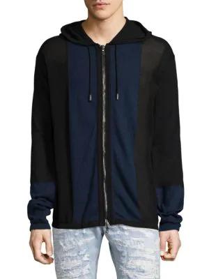 Diesel Black Gold Cotton Hood Jacket In Navy Black