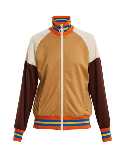 f5b514ed9d5 Gucci - Fy Yourself Print Jersey Track Top - Womens - Brown Multi ...