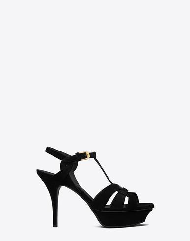 Saint Laurent Sandals In Nero