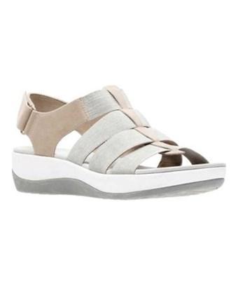 Clarks Women's   Arla Shaylie Slingback Sand/white Heathered Elastic Size 7.5 W